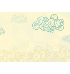 Stylized spiral clouds on the light background vector image