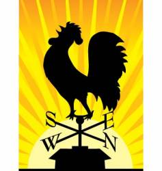 weathervane rooster vector image vector image