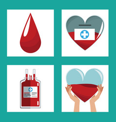 donate blood concept design vector image vector image