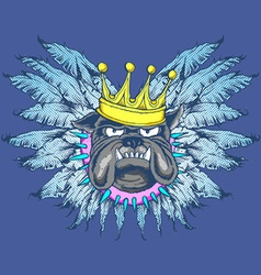 KING DOG WITH WINGS vector image vector image
