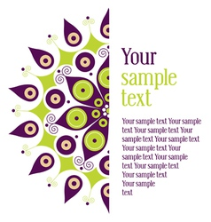 Perfect for invitations or announcements vector image
