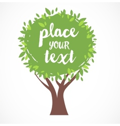 tree background with a place vector image vector image