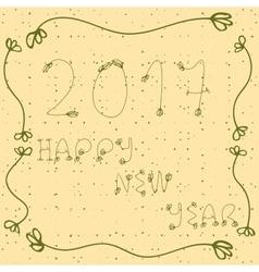 2017 happy new year hand drawn vector