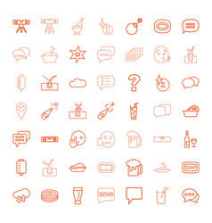 49 bubble icons vector image