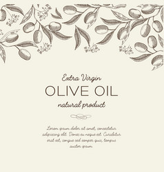 Abstract olive floral sketch template vector