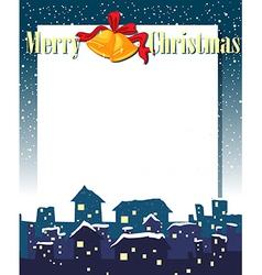 An empty christmas card template vector