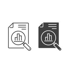 Analytics icon symbol vector