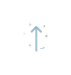 arrow sign up icon desige vector image