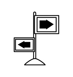 arrows guide way isolated icon vector image