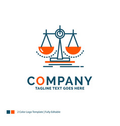 Balance decision justice law scale logo design vector