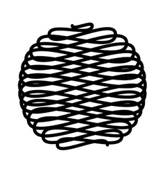 ball of wool isolated icon vector image