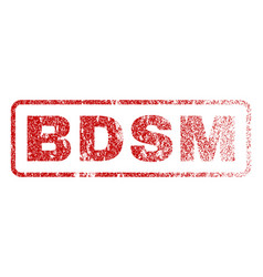 bdsm rubber stamp vector image