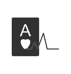 Black icon on white background ace of hearts vector