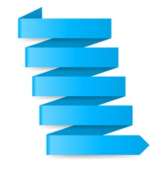 Blue paper arrow vector