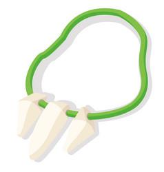 Bone necklace flat vector