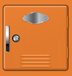 Brown storage safe box vector