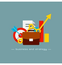 Business and strategy flat concept vector