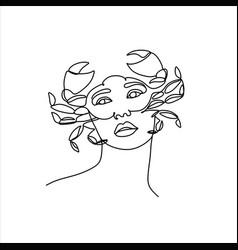 Cancer horoscope sign zodiac symbol girl vector