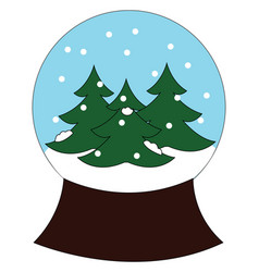 christmas dcor or ornament for table depicting vector image