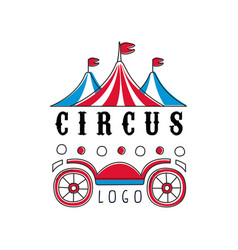 Circus logo emblem for amusement park festival vector