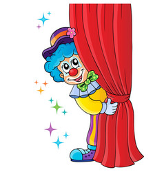 Clown thematics image 1 vector
