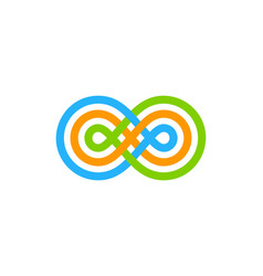 color infinity logo icon design vector image