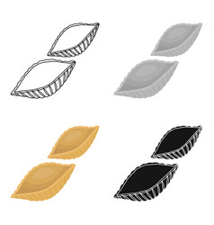 Conchiglie pasta icon in cartoon style isolated on vector