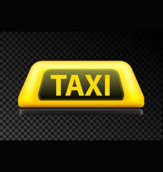 Creative of yellow taxi vector