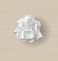 Crumpled white paper vector