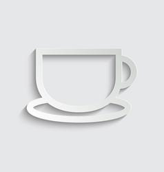 cup icon line style cup coffee tea symbol vector image
