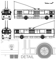 Detailed trolleybus vector