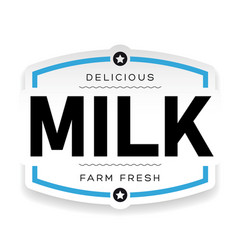 drink logo milk vintage vector image
