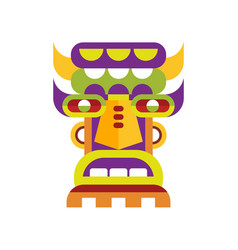 Ethnic tribal ritual mask on a vector