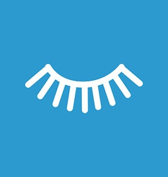 Eyelash icon white on the blue background vector