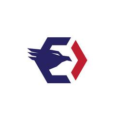 falcon eagle logo vector image