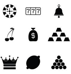 gamble icon set vector image