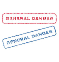 general danger textile stamps vector image