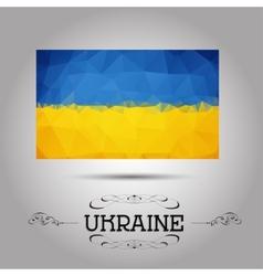 geometric polygonal Ukraine flag vector image