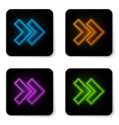 glowing neon arrow icon isolated on white vector image