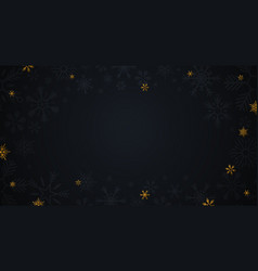 gold snowflakes on the dark background vector image