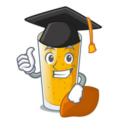graduation lassi mango in a cartoon bottle vector image