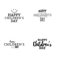 Happy children day vector