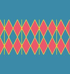 Harlequin vintage or argyle seamless pattern vector