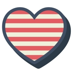 Heart shape with stars and lines inside design vector