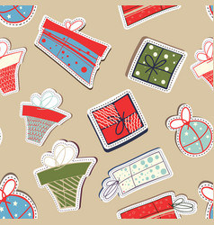 holiday abstract seamless repetition pattern vector image