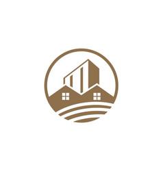 house building design logo vector image