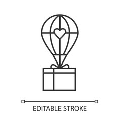 humanitarian assistance linear icon delivery aid vector image