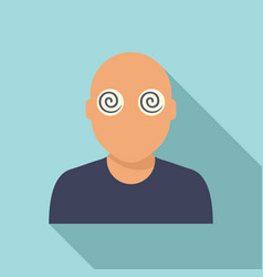 Hypnosis pacient eyes icon flat style vector