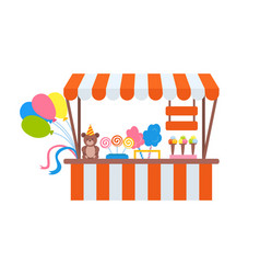 ice-cream and cotton candy store sweets vector image