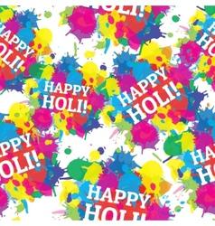 Indian festival seamless pattern colors splash vector image
